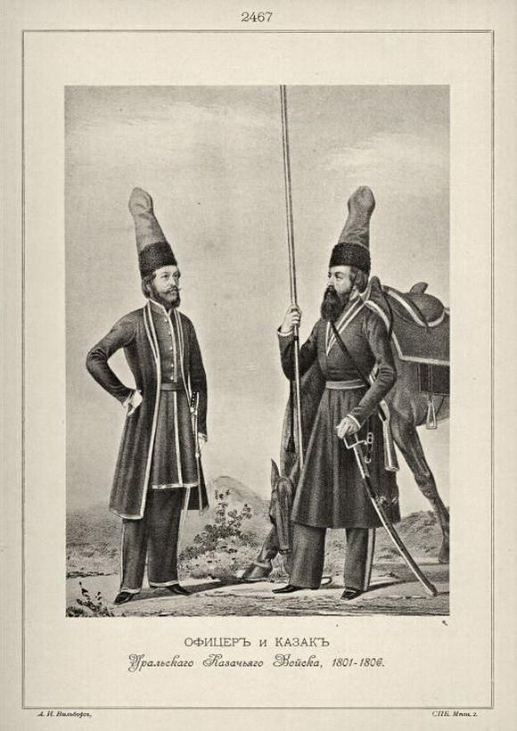Форма уральских казаков 1806 года.