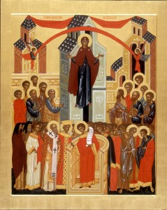 Икона Покрова Пресвятой Богородицы.