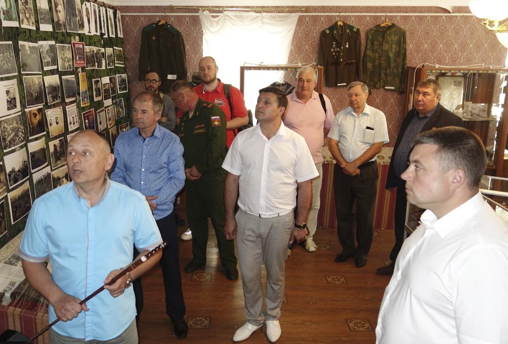 Выставка погранвойск в доме Голицыных.