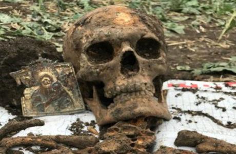 Миус-фронт: останки солдата с пробитой иконой.