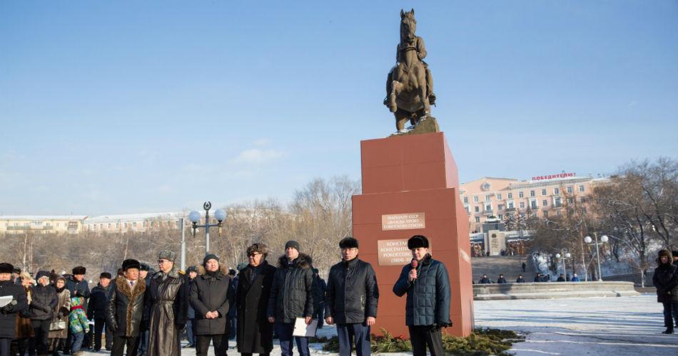 Памятник Рокоссовскому был открыт в Улан-Удэ.