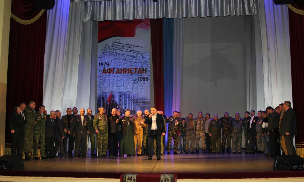В Мичуринске прошли мероприятия в честь вывода войск из Афганистана.
