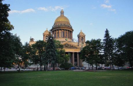 Город Санкт-Петербург - столица белых ночей.