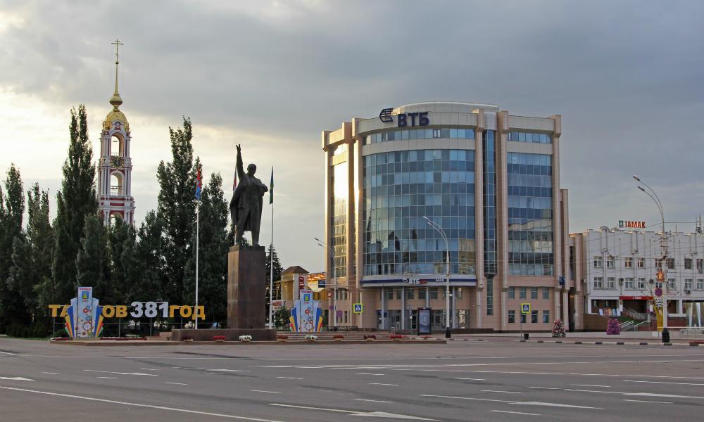 Площадь Ленина в Тамбове.