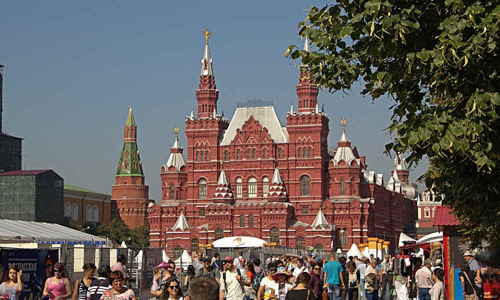 Государственный исторический музей на Красной площади в Москве.