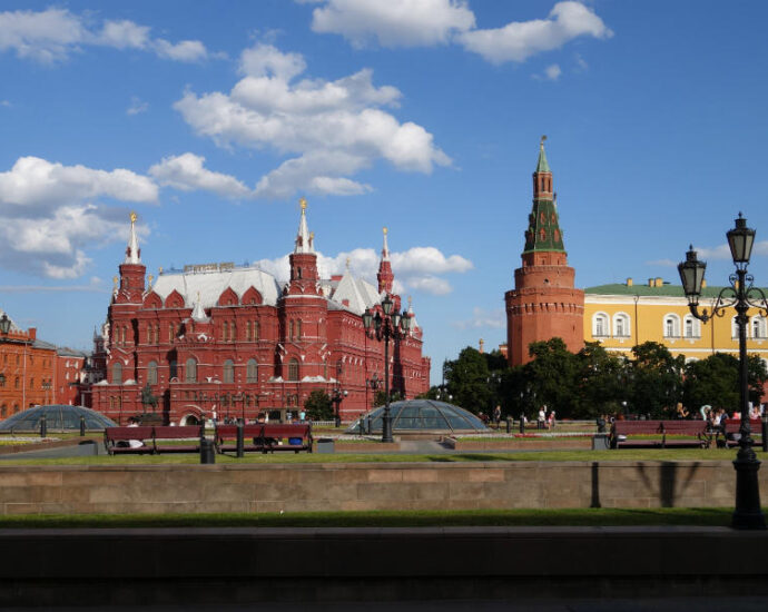 Манежная площадь в Москве.