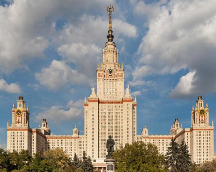 Здание МГУ на Воробьёвых горах.