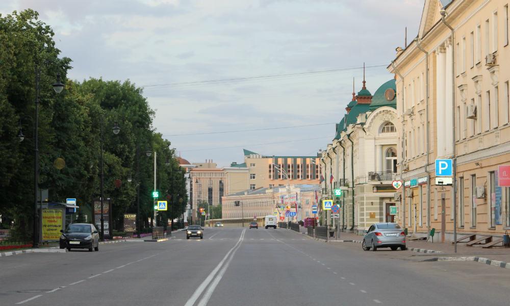 Улица Карла Маркса в Тамбове.