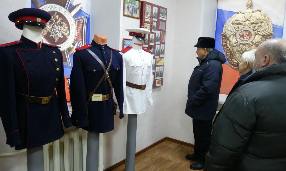 Ветераны погранслужбы посетили музей полиции в Мичуринске.