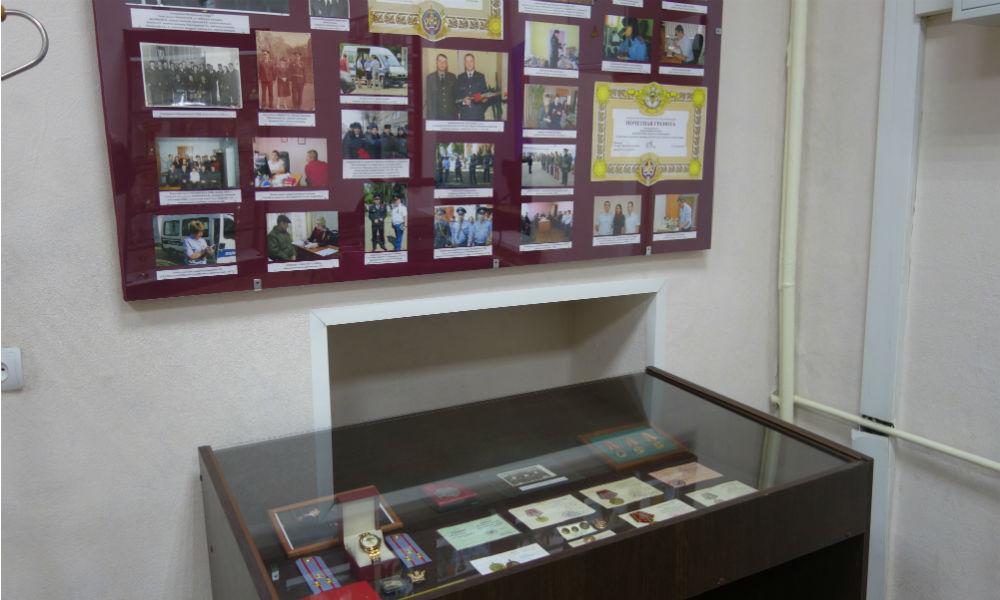 Ветераны погранслужбы посетили музей полиции в Мичуринске. Экспозиция музея.
