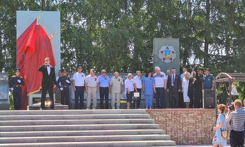В Мичуринском районе Тамбовской области открыли мемориал.