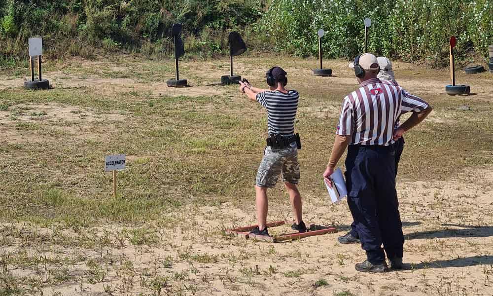 В Мичуринске прошли соревнования по практической стрельбе.